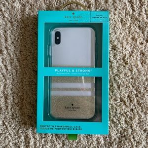 NWT Kate Spade ♠️ iPhone XS Max Case, Gold & White